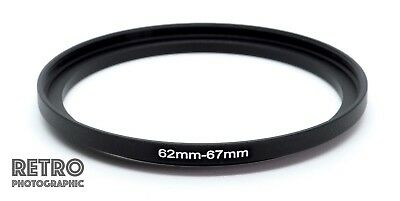 62mm to 67mm 62-67mm Step-Up Stepping Ring Filter Adapter - UK Stock
