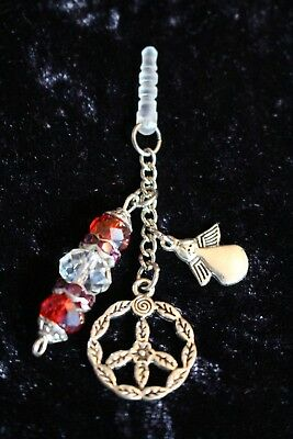 Adorable Red Peace Angel Mobile Anti-Dust Plug Charm
