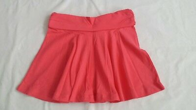NWT Crazy 8 fold-over coral cotton skirt Sz M 7-8