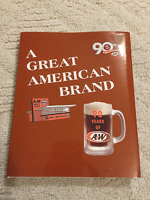 Rare out of print 90 year A&W root beer drive in history book