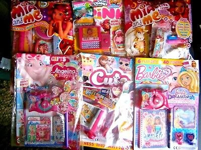 Kids Magazines x 6 All Girls (New) With Free Gifts