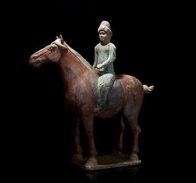 Fine Chinese Horse and Rider with Oxford TL Test - Tang Dynasty
