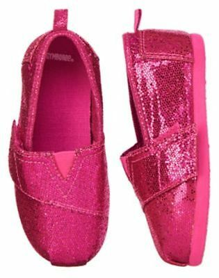 NWT GYMBOREE  Pink Sparkle Canvas Slip-On Girl Shoes: Stripes and Anchor SZ 8