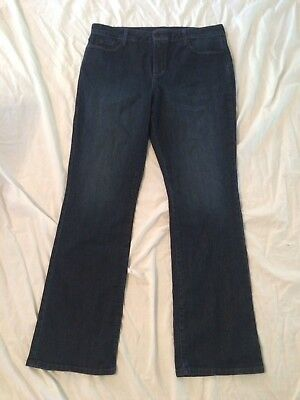NYDJ Not Your Daughters BARBARA BOOTCUT Dark Wash Jeans Size 16