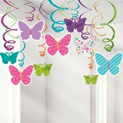 Butterfly Swirls Hanging Swirl Party Decorations Birthday Party Decorations