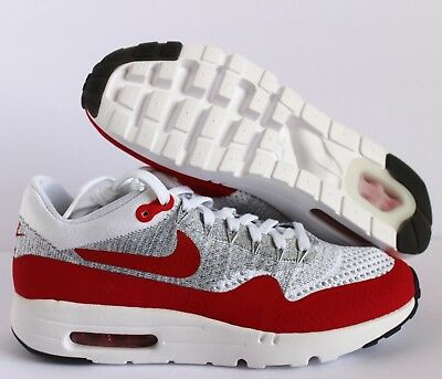 NIKE AIR MAX 1 Ultra Flyknit Men's Running Shoes WhiteRed