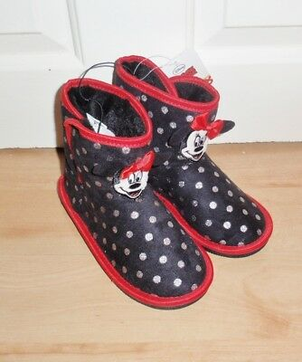 BNWT Primark Disney Minnie Mouse girls faux suede slip on boots - various sizes