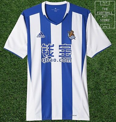 Real Sociedad Home Shirt - Genuine adidas Football Jersey - Mens - All Sizes