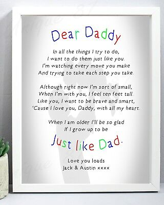 Daddy Gift for Dad Grandad Daddy PERSONALISED Birthday Fathers Day Him Men Uncle