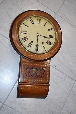 Antique Drop Dial Wall Clock with Stricking Bell