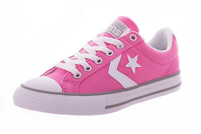 Converse Infant Kids Junior Girls Chuck Taylor Star Player Trainers Shoes - Pink