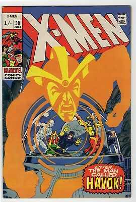 X-Men #58 7.0 FN/VF 1st appearance of Havoc Neal Adams art Pence