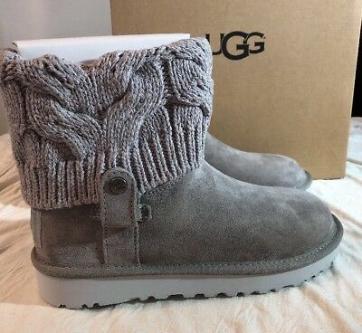 2e8bd3641e0 UGG SHAINA 1012534 Woman'S Grey Authentic New* Boots Size 10 ...
