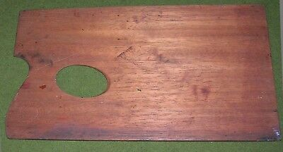 Antique  Reeves Miniature Wooden Artist  Paint Palette For Travelling Box