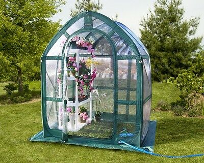 Portable Greenhouse FlowerHouse PlantHouse 5 ft  Clear PVC Pop Up Small Garden