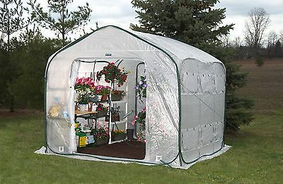 Portable Greenhouse FlowerHouse FarmHouse 9 ft square Expandable Pop Up Garden