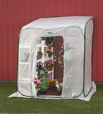 Portable Lean-to Greenhouse FlowerHouse HotHouse Small Backyard Pop Up 6 ft sq