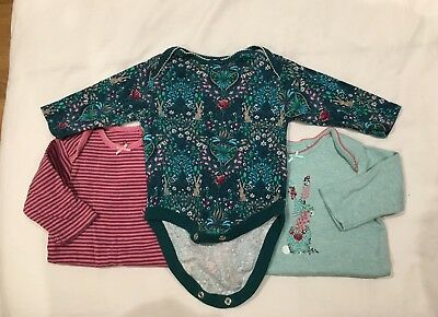Baby Girls Next 0-3 Long Sleeved Vest Bundle