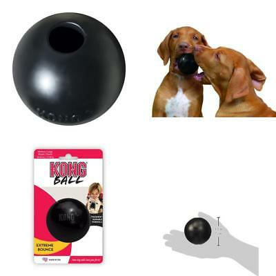 Kong Rubber Ball Extreme Bounce Black Medium/Large Dog Dogs Toy Fetch Tough Chew