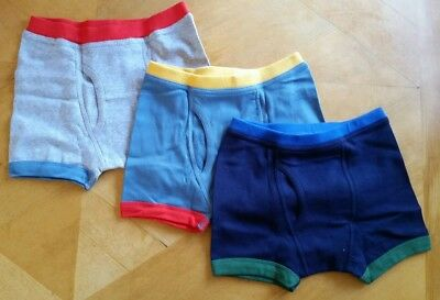 Nwt Hanna Andersson 3 Boxer Briefs Unders Underwear Solid Blues M 120 130 6 8 10