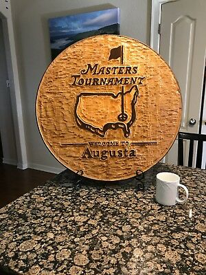 Masters Tournament Promotional Solid Wood Sign