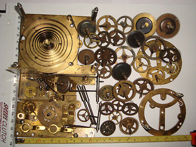 Clock Parts Job Lot WYSIWYG Clockmakers Steampunk Altered Arts Crafts Lot 214