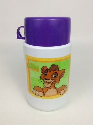 Vintage 90's Thermos The Lion King Simba's Pride Lunch Box Thermos w/ Lid & Cap