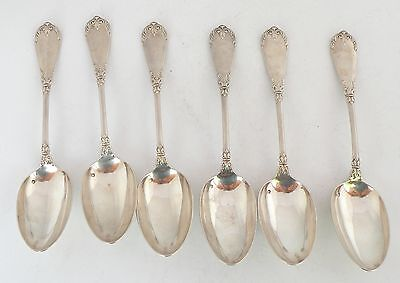 "antique french sterling silver large & ornate soup spoons hallmark 9.5"" L, 83 GR"