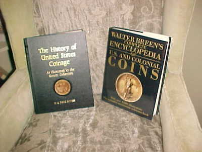 2 Vintage Coin Books:History of US Coinage & Breen's Encyclopedia of US Coins