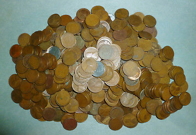 639 mixed Wheat Pennies - MUCH HIGHER PERCENTAGE OF TEENS AND TWENTIES