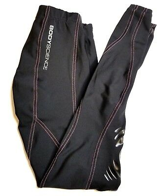 Body Science SZ 8 Womens Compression Athletic Pants Black Cross Fit Training