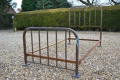 Old Antique French brass Art Deco Bed Frame found in French barn