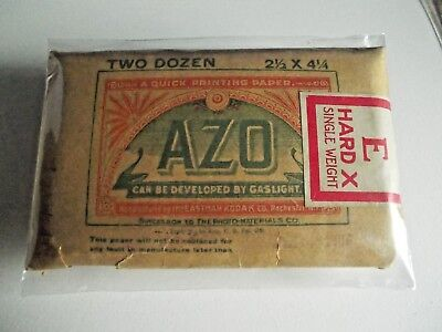 Eastman Kodak AZO Paper - 2½ x 4¼ - Hard X - Single Weight - Expd 1916  - Unused