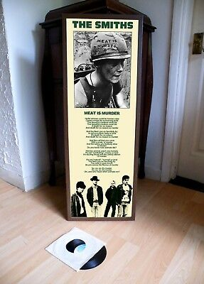 The Smiths Meat Is Murder Promo Lyric Poster,joy Division,queen Is Dead,panic