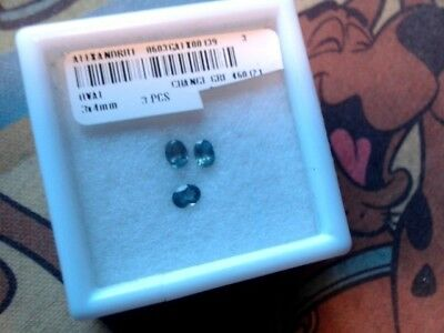Natural Russian Alexandrite 3x4mm .60cts total for set of 3 matching gems Sale!
