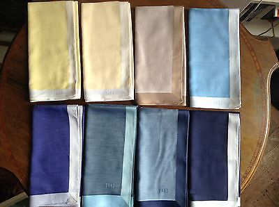 Daks Of London Pocket Square Handkerchiefs In Assortment Of Colours. Cotton
