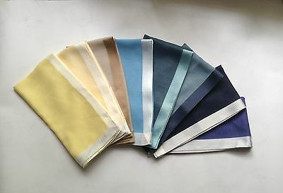 Daks Pocket Square Handkerchief In Assortment Of Colour. Finest Cotton