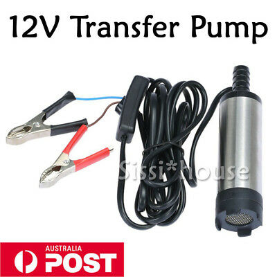 DC 12V Submersible Transfer Pump Fuel Diesel Water Oil Boats Vessels Pool A