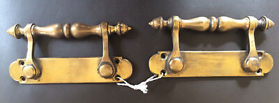 A Pair of Antique/Vintage Solid Brass Sliding Sash Window Pulls/Handles/Lifts
