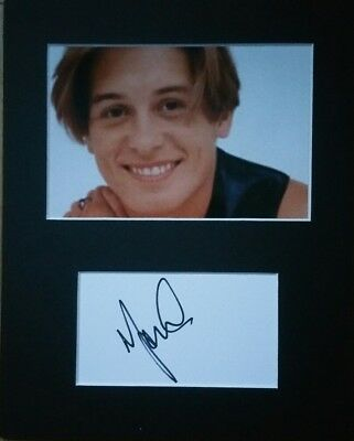 Mark Owen 'Take That', hand signed mounted autograph.