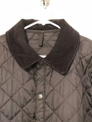 Men's Barbour Heritage Liddesdale Quilted Jacket Black Sz L - MSRP $135
