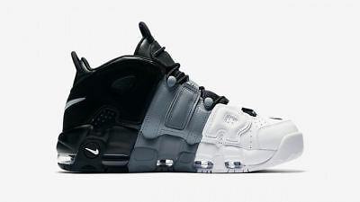 Nike Air More Uptempo 96 Leather Black-Black-Cool Grey Shoes Uomo - NIKE UPTEMPO