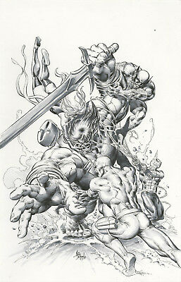 "New Avengers #23 Cover By Mike Deodato,jr. Comic Art 11"" X 14.5"""