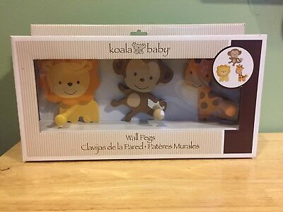KOALA BABY Jungle Theme Wall Pegs ****BRAND NEW****
