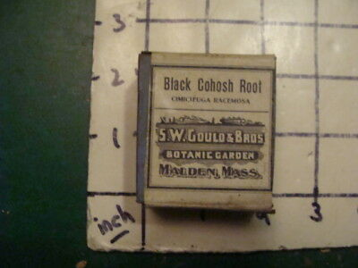 unused old store stock -- S W GOULD & bros -- BLACK COHOSH ROOT
