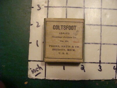 unused old store stock -- PARKE, DAVIS & co -- COLTSFOOT leaves