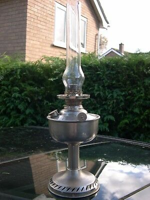 Rare German Erich & Graetz Miniature Centre Draught Kerosene Oil Lamp, Working