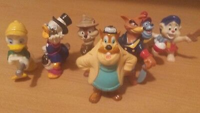 Kelloggs Cereal lot of 7 Disney Afternoon Cartoon characters.