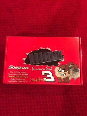 Dale Earnhardt Sr Snap On 1/24 Tasmanian Devil Car With Deep Impact Socket Set