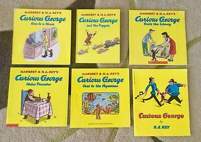 Curious George Book Lot Of Six